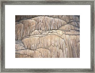 Flowstone Formations Framed Print