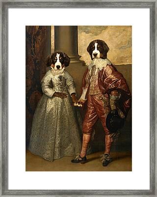 Floyd Of Orange And Lottie Stuart Framed Print by Jaime De Haas