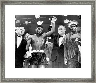 Floyd Patterson After Win Framed Print