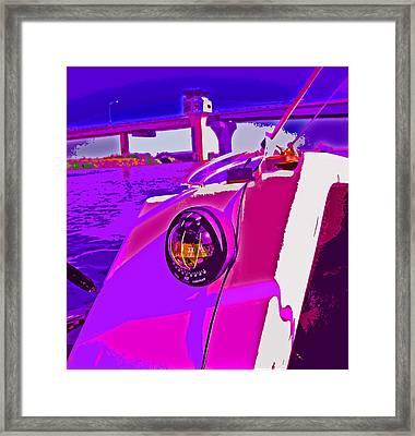 Floyd Pink And Purple Framed Print