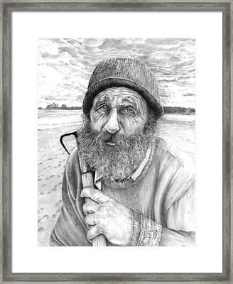 Floyd The Clam Digger Framed Print by James Oliver