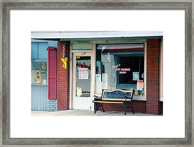 Floyd's Barber Shop Nc Framed Print
