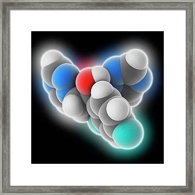 Fluconazole Drug Molecule Framed Print by Laguna Design