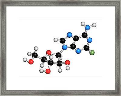 Fludarabine Blood Cancer Drug Molecule Framed Print