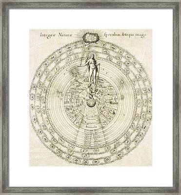 Fludd's Cosmology, 1617 Framed Print by Science Photo Library