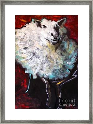 Fluffy Framed Print