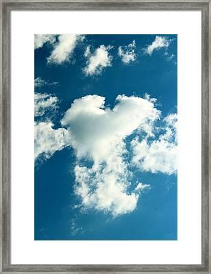 Fluffy Heart Framed Print