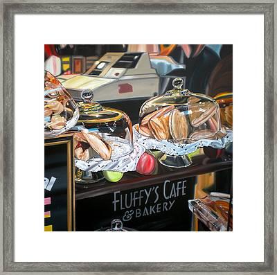 Fluffy's Cafe Framed Print