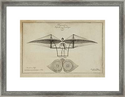 Flugmashine Patent 1807 Framed Print by Bill Cannon