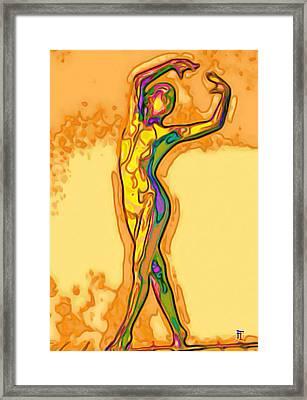 Fluid Framed Print by  Fli Art