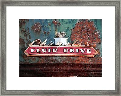 Fluid Drive Framed Print by Greg Sharpe
