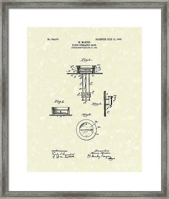 Fluid Gauge 1905 Patent Art Framed Print by Prior Art Design