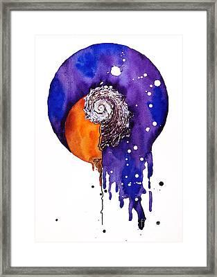 Fluidity 16 - Mollusc Shell - Elena Yakubovich Framed Print by Elena Yakubovich