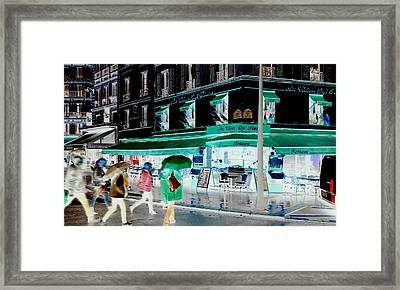 Fluidity In Motion  Framed Print