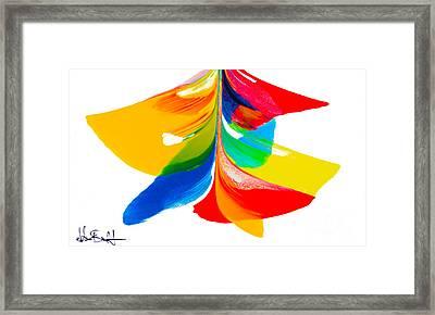 Fluidity - Number 6 Framed Print