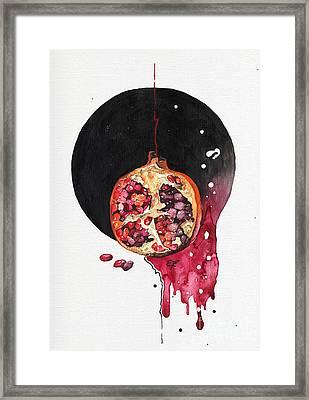 Framed Print featuring the painting Fluidity Vii - Elena Yakubovich by Elena Yakubovich