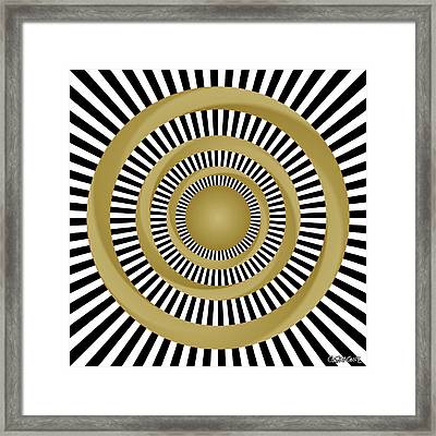 Golden Fluids Framed Print