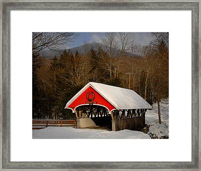 Flume Covered Bridge Framed Print