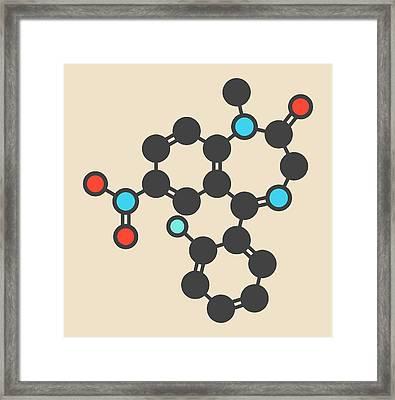 Flunitrazepam Hypnotic Drug Molecule Framed Print