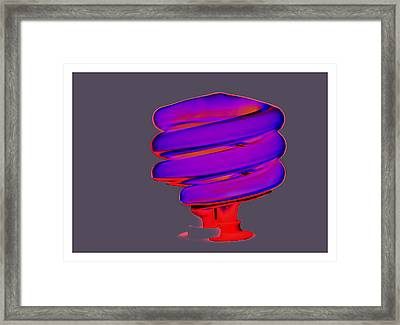 Fluorescent Framed Print