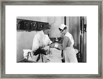 Fluoroscopic Examination Framed Print by Underwood Archives