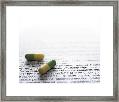 Fluoxetine And Side Effects Framed Print by Robert Brook