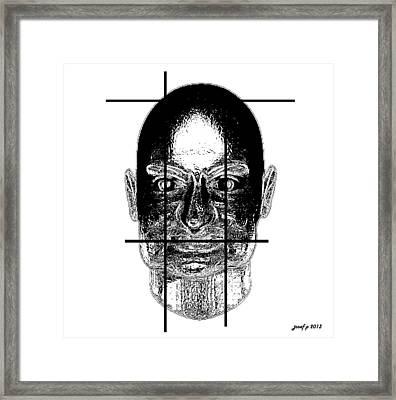 Flupenthixol    Imprisoned Thoughts Framed Print by Sir Josef - Social Critic -  Maha Art