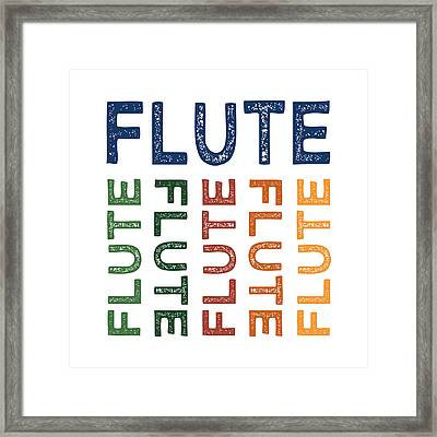 Flute Cute Colorful Framed Print