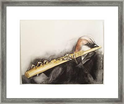 Flute Framed Print by Flor Avila