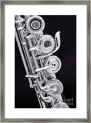 Flute Music Instruments Photograph In Sepia  3441.03 Framed Print by M K  Miller
