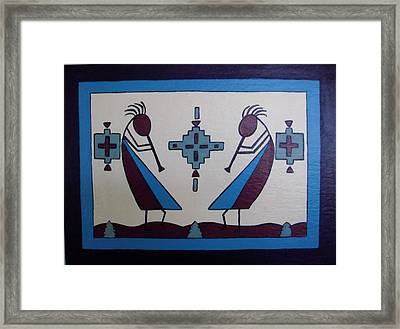 Flute Players Framed Print