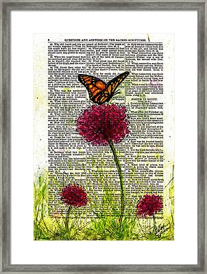 Flutter By Framed Print