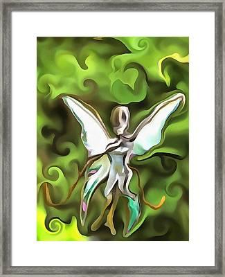 Flutter Fly Framed Print