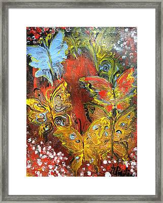 Fluttery Butterflies Framed Print