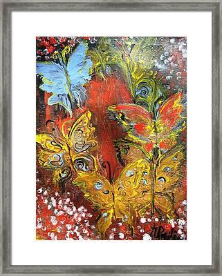 Fluttery Butterflies Framed Print by Evelina Popilian