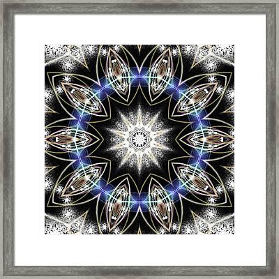 Flux Magnetism Framed Print