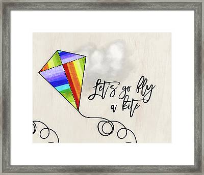 Fly A Kite Framed Print by Amy Cummings
