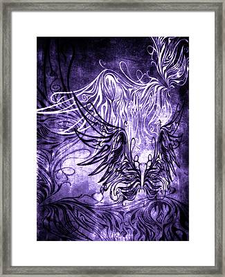 Fly Away Gothic Grape Framed Print by Angelina Vick