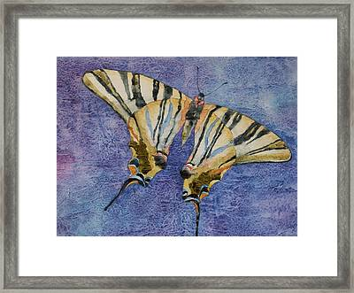 Framed Print featuring the painting Fly Away Home by Casey Rasmussen White
