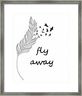 Fly Away Framed Print by Jennifer Kimberly