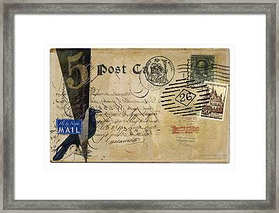 Fly By Night Mail Framed Print by Carol Leigh