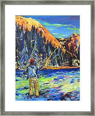 Fly Fisherman Framed Print