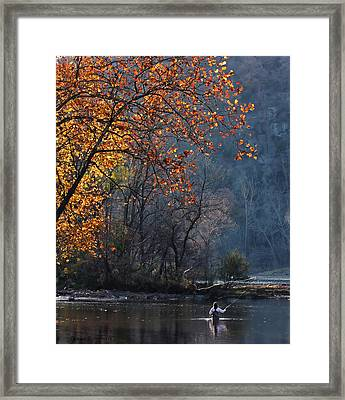 Fly Fisherwoman Framed Print by Denise Romano
