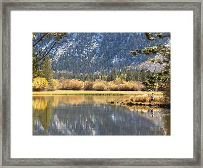 Fly Fishin Framed Print