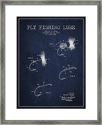 Fly Fishing Lure Patent Drawing From 1969 Framed Print