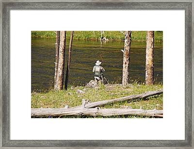 Framed Print featuring the photograph Fly Fishing by Mary Carol Story