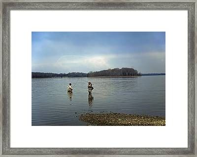 Fly Fishing Framed Print by Steven  Michael
