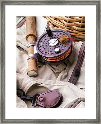 Fly Fishing Still Life Framed Print