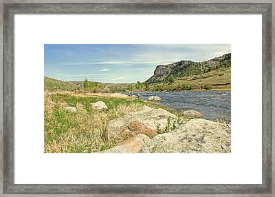 Fly Fishing Stillwater River Montana Framed Print