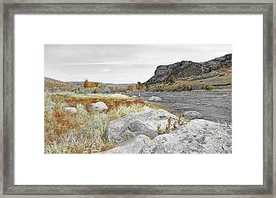 Fly Fishing Stillwater River Montana Selective Color Framed Print